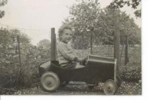 Me in my first car, c.1946