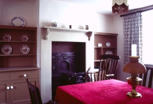 The restored dining room