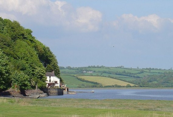 The Boathouse, Dylan Thomas's last abode, in the tranquil setting of Laugharne, west Wales