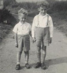 Little brother Derek and me, c1950